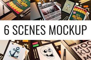 6 Scenes Mockup II