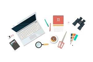 Workplace of designer, organization