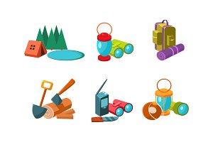 Touristic equipment, tools for