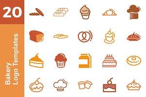 20 Logo Bakery Templates Bundle