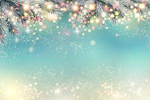 Holiday christmas light panorama