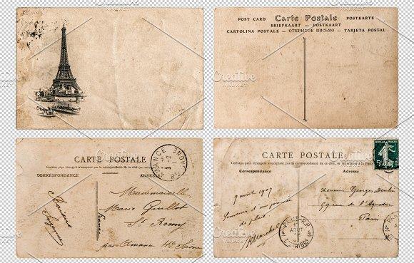 Antique french postcards Paris PNG