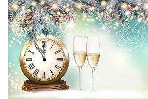 New Year Holiday background vector