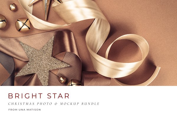 Social Media Templates: Una Matison - Christmas Photo & mockup bundle