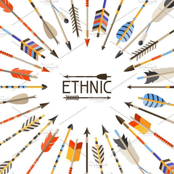 Ethnic set of indian arrows.