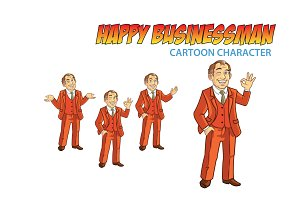 Happy Businessman Cartoon