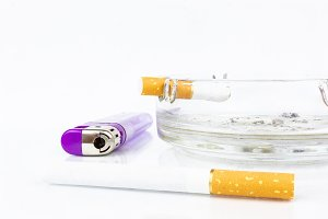 cigarette ashtray lighter cigarette