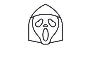 Grim Reaper Emoji concept line