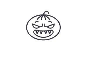 Halloween Emoji concept line