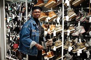 Stylish casual african american man