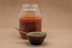 Spanish cuisine. Mojo Picon Sauce