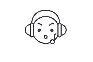 Music Listening Emoji concept line