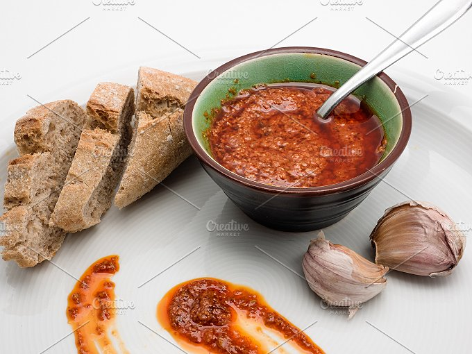 Spanish cuisine. Mojo Picon Sauce - Food & Drink