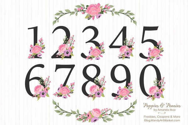 Garden Party Table Number Clipart