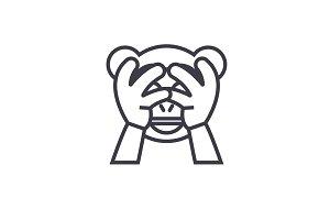 See No Evil Emoji concept line