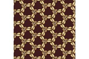 Golden Abstract Seamless Vector