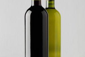 Wine Bottle Mock-Up - Two Bottles