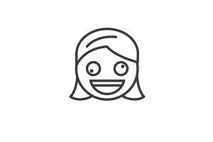 Zany Face Emoji concept line