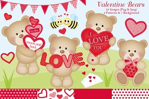 Valentine Clipart & Paper Set