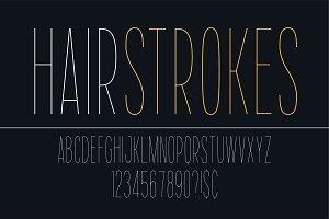 Thin vector decorative bold font