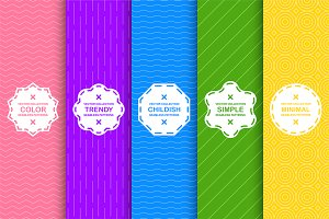 Vibrant seamless simple patterns