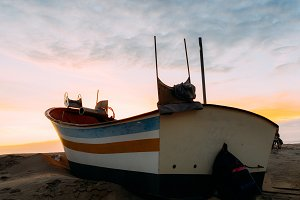 Traditional wooden fishing boat