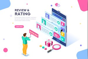 Rating Web Page Template Banner
