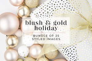 Blush Pink + Gold Holiday Bundle