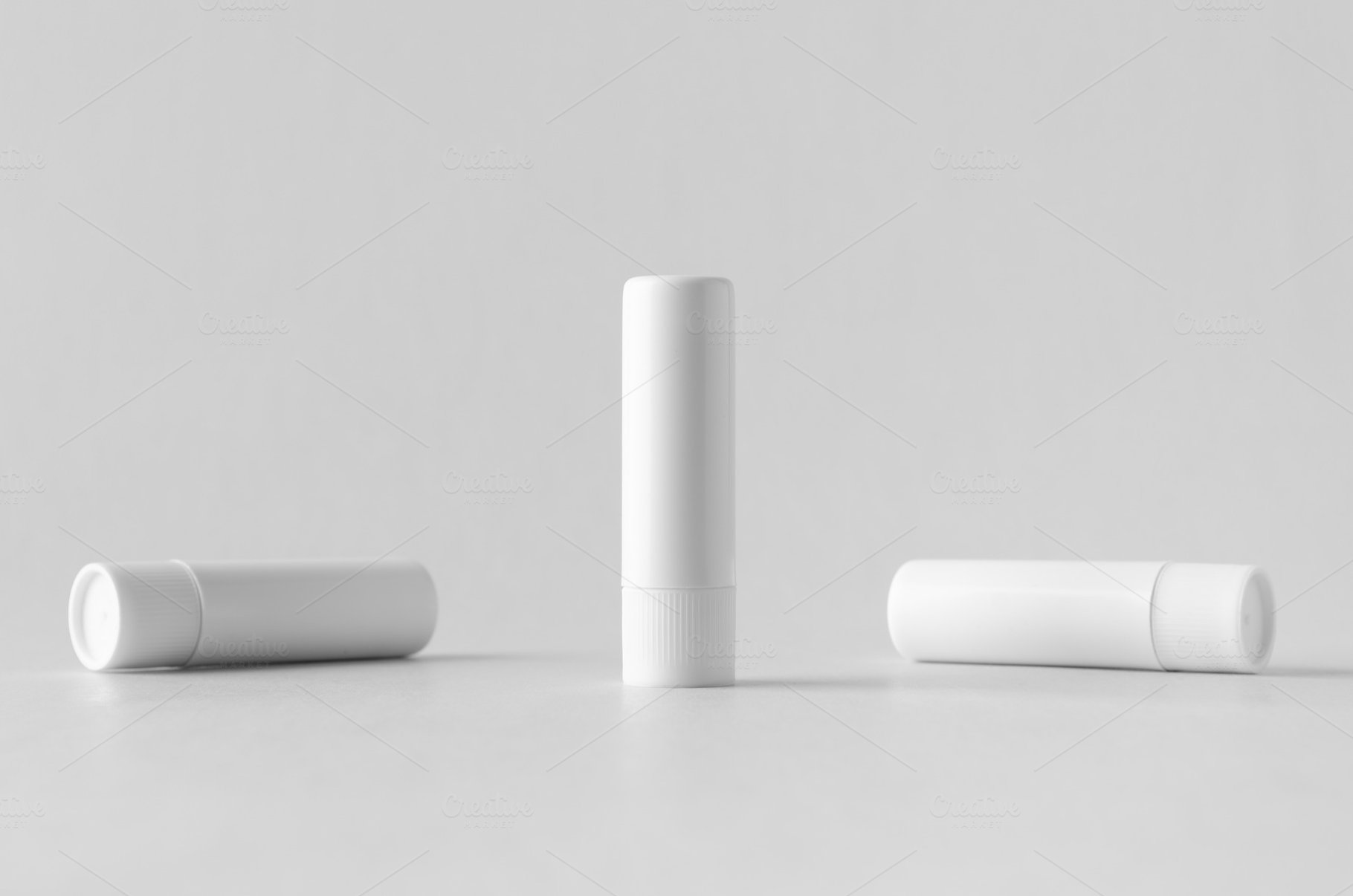 Lip balm packaging mock-up
