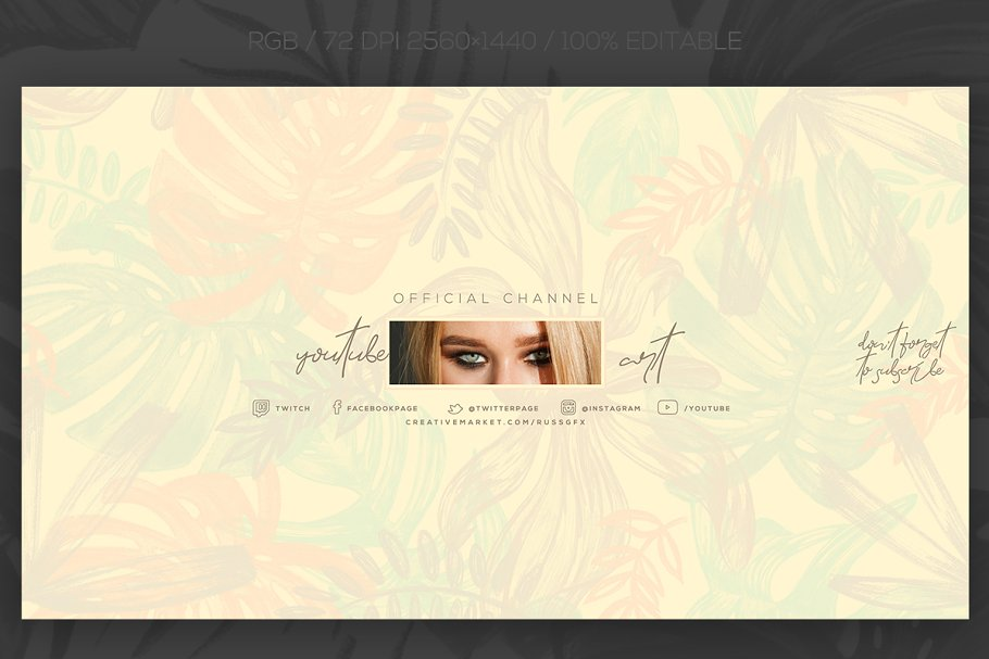 10 Youtube Channel Art Banners vol 8 ~ Creative Daddy