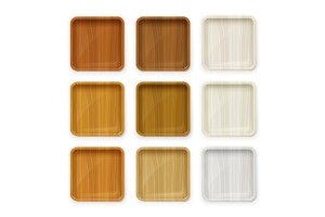 Set Wooden plate for sushi and other