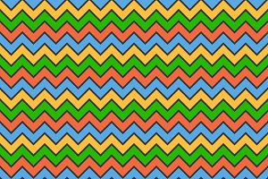 Abstract Color Zigzag Wave Pattern