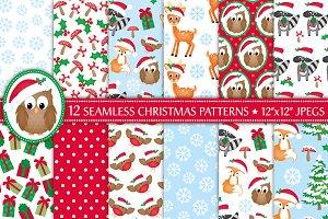 Christmas Woodland Animal Patterns