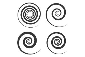 Spiral and Swirl Motion Elements Set