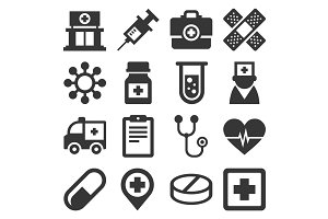 Health Medic Icons Set