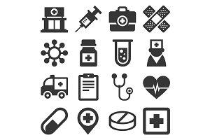 Health Medic Icons Set