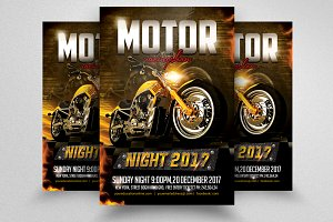 Bike Racing Show Flyer Template