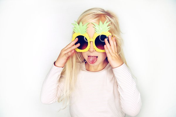 People Images: Stefan & Janni - Cute little girl wearing pineapple g