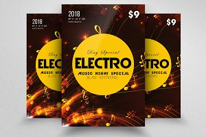 Electro MUsic Flyer Templates