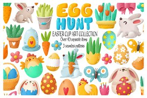 Easter clip art collection