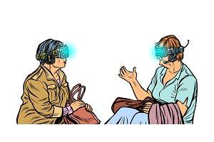 Older women in virtual reality, VR