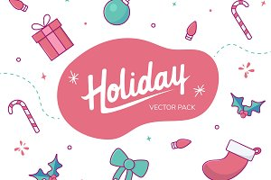 Holiday Vector & Graphics Pack