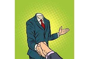 businessman handshake, a template