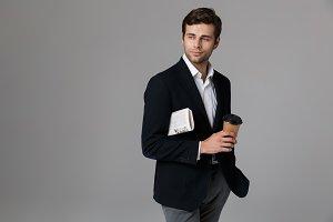 Image of caucasian man 30s in formal