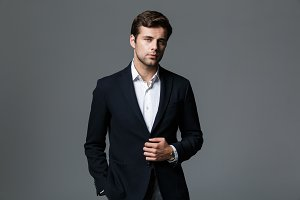 Image of attractive businessman 30s