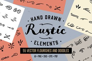 Hand Drawn Rustic Elements