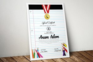 Paper Style Certificate Templates