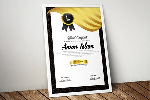 Golden Certificate Templates