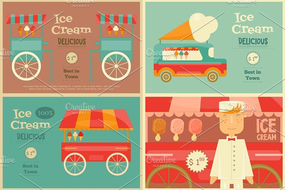 Ice Cream Poster in Illustrations