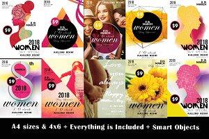 10 Women Day Flyer Bundle Vol.01